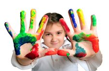 Little Painter Royalty Free Stock Images