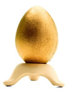 Free One Golden Egg On A Stand Royalty Free Stock Photos - 8795288