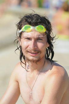 Free The Man On A Sea Beach. Royalty Free Stock Photos - 8795338