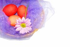 Free Purple Basket With Eggs. Stock Photography - 8795742