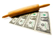 Free Rolling Pin On Us Currency Stock Photos - 8795793