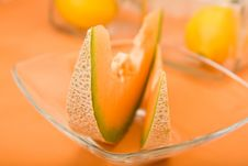 Free Cantaloupe Melon Wedges Royalty Free Stock Photography - 8795797