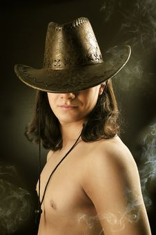 Free Sexy Brawn Hair Cowboy Royalty Free Stock Image - 8795866