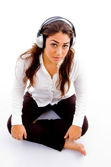Free Young Girl Posing With Headphones Stock Photo - 8796430