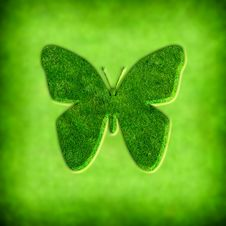 Free Spring Background With Butterfly Illustration Royalty Free Stock Images - 8796439