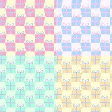 Free Pattern. Gift Box Royalty Free Stock Photo - 8796995