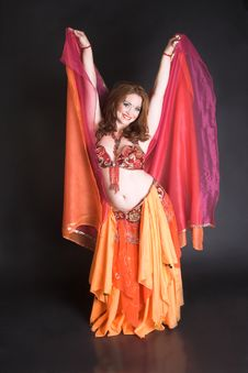 Free Belly Dancer In Red Stock Image - 8797951