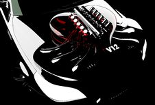 Free Heart Car On A Black Background Royalty Free Stock Images - 8798419