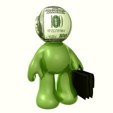 Free Money Head Businessman Icon Figure Stock Photo - 8798630