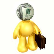 Free Money Head Businessman Icon Figure Royalty Free Stock Photo - 8798715