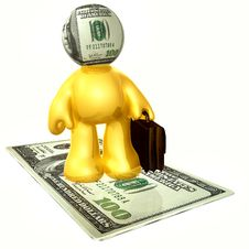 Free Money Head Businessman Icon Figure Royalty Free Stock Photos - 8798948
