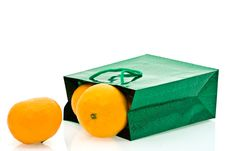 Free Green Package And Mandarines Stock Photo - 8799480