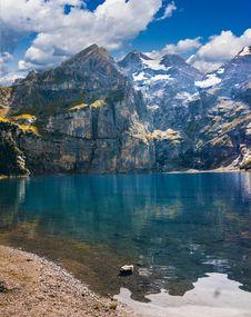 Free Alpine Lake On Sunny Day Stock Photos - 87960643