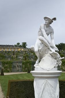 Free Statue Of Hermes In Sanssouci Park Royalty Free Stock Image - 87961966
