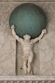 Free Statue Of Atlas In Burgerzaal Royalty Free Stock Photography - 87962377