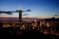 Free 101 Tower, Taipei, Taiwan At Night Stock Photo - 87963200