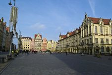 Free Market Square In Wrocław Royalty Free Stock Images - 87963259