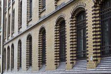 Free Brick Wall And Barred Windows Royalty Free Stock Photos - 87963698