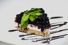 Free Slice Of Blackberry Cheesecake Royalty Free Stock Photos - 87965268