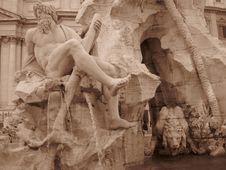Free Fontana Dei Quattro Fiumi Royalty Free Stock Image - 87966156