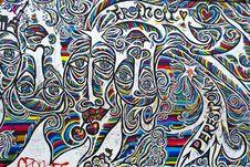 Free Graffiti On Berlin Wall Stock Photography - 87966312