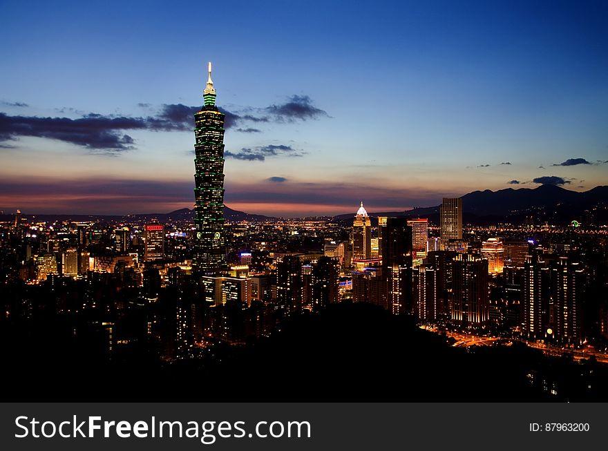 101 Tower, Taipei, Taiwan at night
