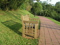 Free Garden Path With Bench Royalty Free Stock Image - 886526