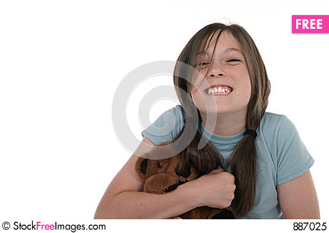Free Little Girl Holding Teddy Bear 7 Royalty Free Stock Photo - 887025