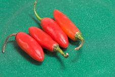 Free Four Red Chilis Stock Image - 880451