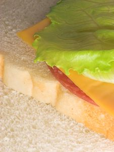 Ham & Cheese Sandwich Stock Photography