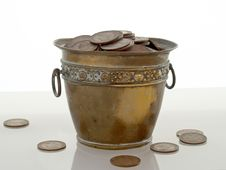Pot Of Money Stock Photo
