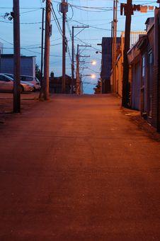 Free Backstreet, Shawinigan;, Canada (warm Version). Stock Image - 880941