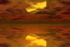 Free Yellow Sundown Stock Photo - 881400