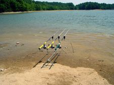 Fishing Poles Stock Image