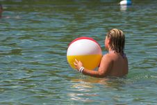 Free Beach Ball Time Stock Image - 881521