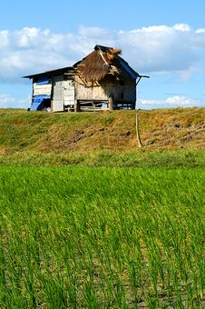 Free Farm Hut - Focus On The Front Plan, The House Is Blured Stock Photos - 882403