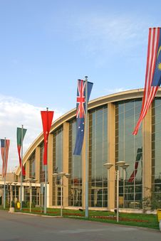 Free Hall And Flags Stock Photo - 882440