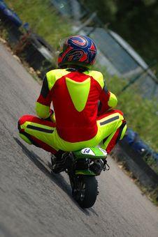 Minibike Racing Royalty Free Stock Photography