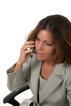 Executive Business Woman With Cellphone 1 Royalty Free Stock Images