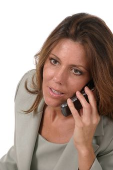 Free Executive Business Woman With Cellphone 4 Stock Images - 885824