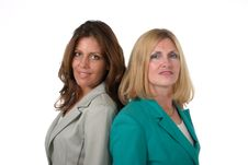 Two Business Women Back To Back 3 Royalty Free Stock Photo