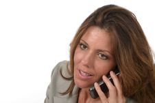 Executive Business Woman With Cellphone 5 Royalty Free Stock Photography