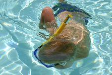 Free Underwater Swimmer Stock Image - 886711