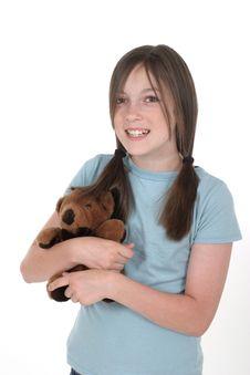 Free Little Girl Holding Teddy Bear 1 Stock Photo - 887000