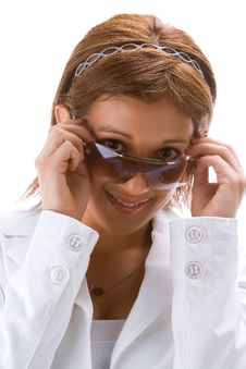 Free Gril With Glasses Royalty Free Stock Photo - 887805