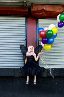 Free Fairy With Balloons Royalty Free Stock Photography - 889377