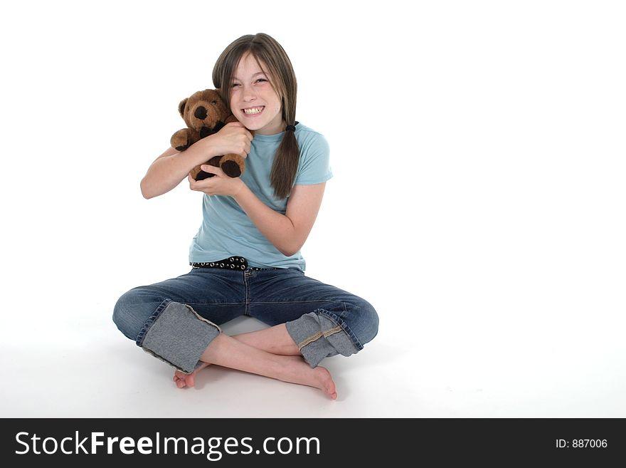 Little Girl Holding Teddy Bear 5