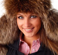 Free Woman In Fur Cap Royalty Free Stock Image - 8803376