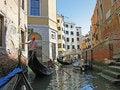 Free The Gondolas At Venice Street Royalty Free Stock Photos - 8807838