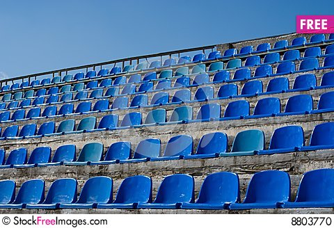 Free Empty Seat Rows Of Blue Stock Photo - 8803770